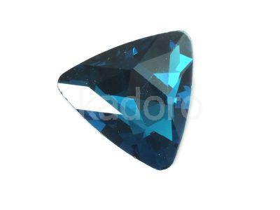 Szklany kamień fasetowany trójkąt Marine Blue 23mm