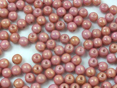 Round Beads Luster - Metallic Pink 4 mm - opakowanie
