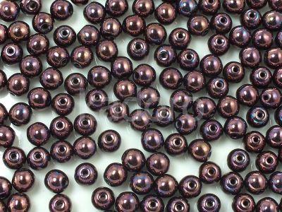 Round Beads Iris Purple-Brown 4 mm - opakowanie