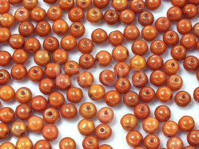 Round Beads Luster - Gold Pink Alabaster 4 mm - opakowanie