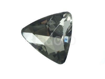Szklany kamień fasetowany trójkąt Gray F 23 mm - 1 sztuka