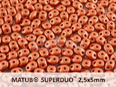 SuperDuo 2.5x5mm Satin Metallic Bronze - 10 g