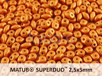 SuperDuo 2.5x5mm Satin Metallic Gold - 10 g