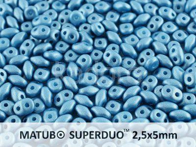 SuperDuo 2.5x5mm Satin Metallic Blue - 10 g