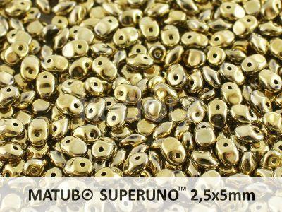 SuperUno 2.5x5mm Yellow Gold - Crystal - 100 g
