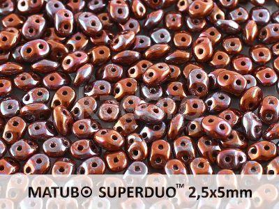SuperDuo 2.5x5mm Opaque Umber - Nebula - 10 g