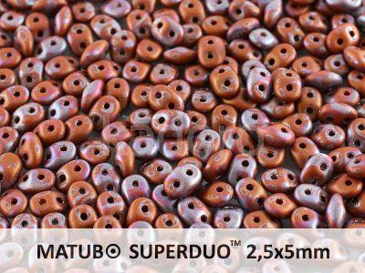 SuperDuo 2.5x5mm Opaque Umber - Nebula Mat - 10 g