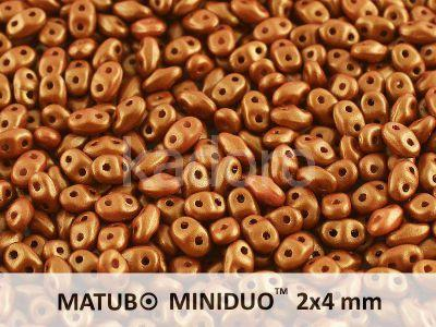 miniDUO 2x4mm Gold Shine Brownish Red - 5 g