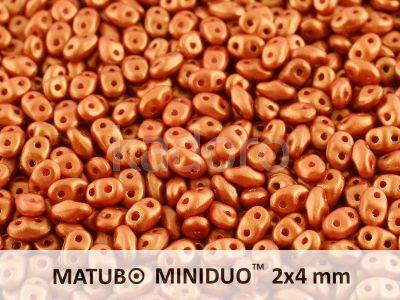 miniDUO 2x4mm Gold Shine Brick Red - 5 g