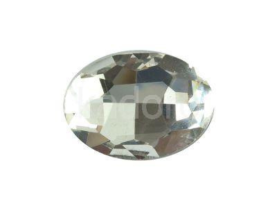 Szklany kamień fasetowany owal 25x18mm Crystal F - 1 sztuka
