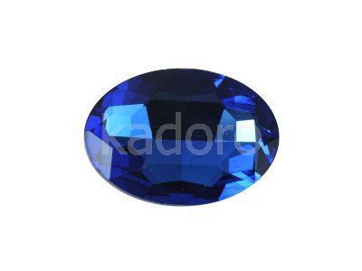 Szklany kamień fasetowany owal 25x18mm Cobalt F - 1 sztuka