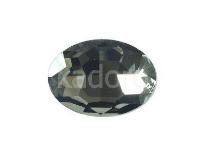 Szklany kamień fasetowany owal 25x18mm Silver Night F - 1 sztuka