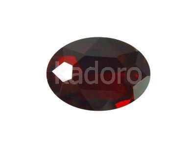 Szklany kamień fasetowany owal 25x18mm Dark Red F - 1 sztuka