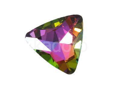 Szklany kamień fasetowany trójkąt Crystal Vitrail Medium F 23mm - 1 sztuka
