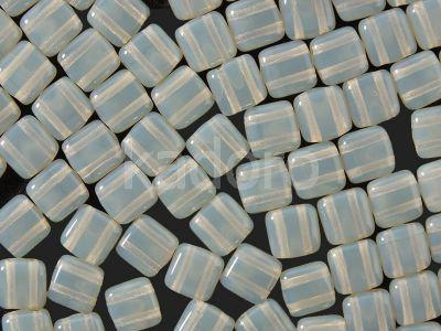 Squares 6mm Milky Grey - 20 sztuk