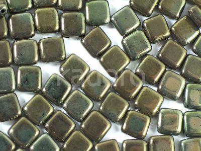 Tile 6mm Luster - Metallic Olivine - 20 sztuk