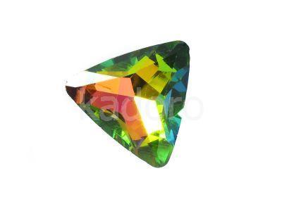 Szklany kamień fasetowany trójkąt Crystal Vitrail Medium F 18 mm - 1 sztuka