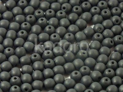 Round Beads Matte Jet 4 mm - opakowanie