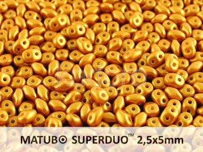 SuperDuo 2.5x5mm Gold Shine Yellow Sun - 10 g