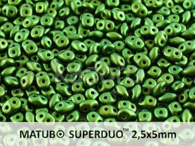 SuperDuo 2.5x5mm Gold Shine Dark Olive Green - 10 g
