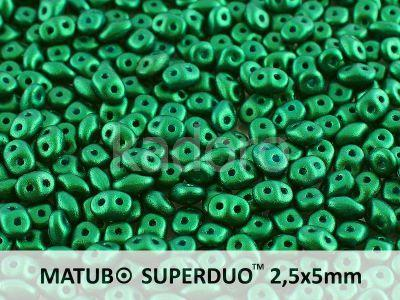 SuperDuo 2.5x5mm Gold Shine Dark Green - 10 g