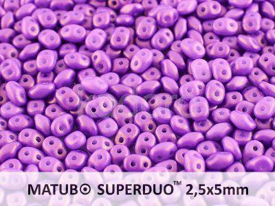 SuperDuo 2.5x5mm Gold Shine Medium Orchid - 10 g