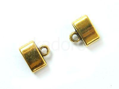 Końcówki do wklejania owalne 10x12 mm złote - 2 sztuki