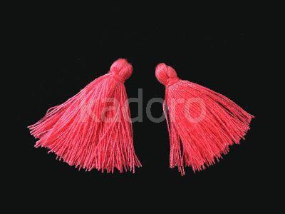 Chwost bawełniany różowy 25-30x5 mm - 1 sztuka