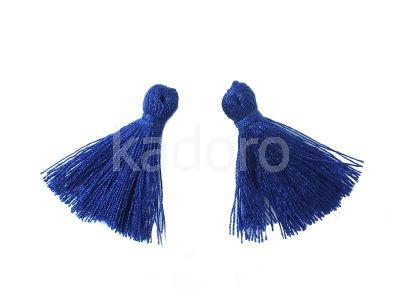 Chwost bawełniany kobaltowy 25-30x5 mm - 1 sztuka