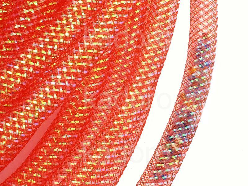 Siatka jubilerska czerwona AB 8 mm - 1 metr
