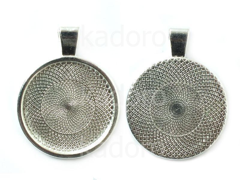 Baza do kaboszonu 25 mm kolor srebrny - 1 sztuka