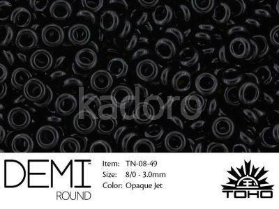 TOHO Demi Round 8o-49 Opaque Jet - 5 g