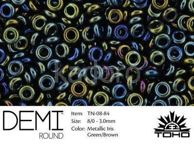 TOHO Demi Round 8o-84 Metallic Iris Green-Brown - 5 g