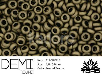 TOHO Demi Round 8o-221F Frosted Bronze - 5 g