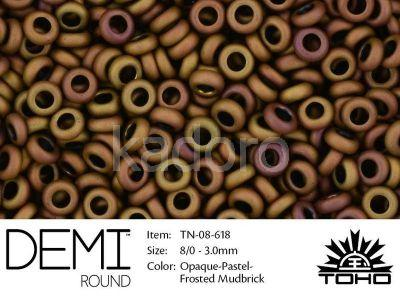 TOHO Demi Round 8o-618 Opaque-Pastel-Frosted Mudbrick - 5 g