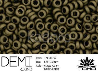 TOHO Demi Round 8o-702 Matte-Color Dark Copper - 5 g