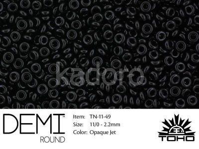 TOHO Demi Round 11o-49 Opaque Jet - 5 g