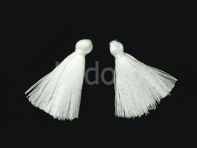 Chwost bawełniany biały 25-30x5 mm - 1 sztuka