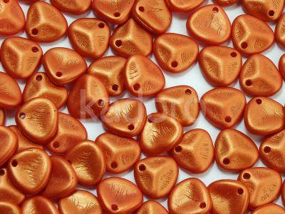 Rose Petals Gold Shine Orange 8x7 mm - 10 sztuk