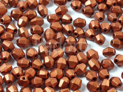 FP Bicone Matte Metallic Dark Copper 5 mm - 20 sztuk