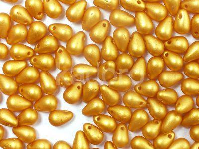 Puffy Teardrops Gold Shine Yellow Sun 6x4mm - 20 sztuk