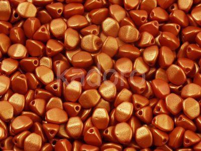 Pinch Beads Gold Shine Orange 5x3 mm - 5 g