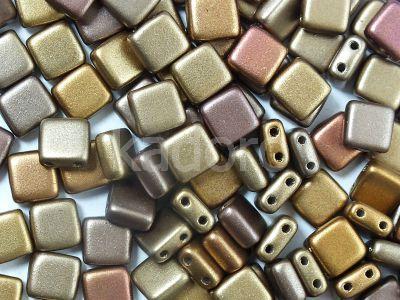 Tile 6mm Matte Metallic Iris Lt Gold - 20 sztuk