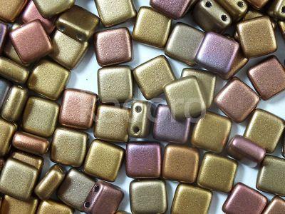 Tile 6mm Matte Metallic Iris Gold - 20 sztuk