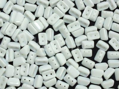 Roofy Beads Opaque White 8x5 mm - 20 sztuk