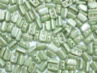 Roofy Beads Luster - Metallic Lt Green 8x5 mm - 20 sztuk