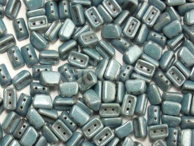 Roofy Beads Luster - Metallic Blue 8x5 mm - 20 sztuk