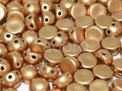 2-hole Cabochon Matte Metallic Flax 6mm - 2 sztuki