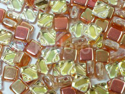 Silky Beads Flat 6mm Crystal Orange Rainbow II - 20 sztuk