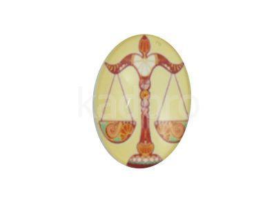 Kaboszon zodiak Waga 25x18 mm - 1 sztuka